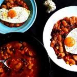 Chili con carne … de pui plus topping de ou sunny