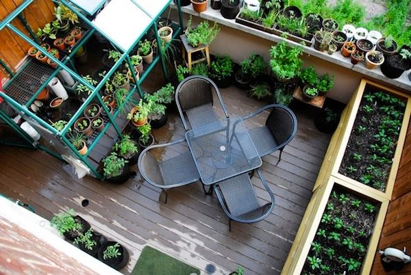balcon gradina
