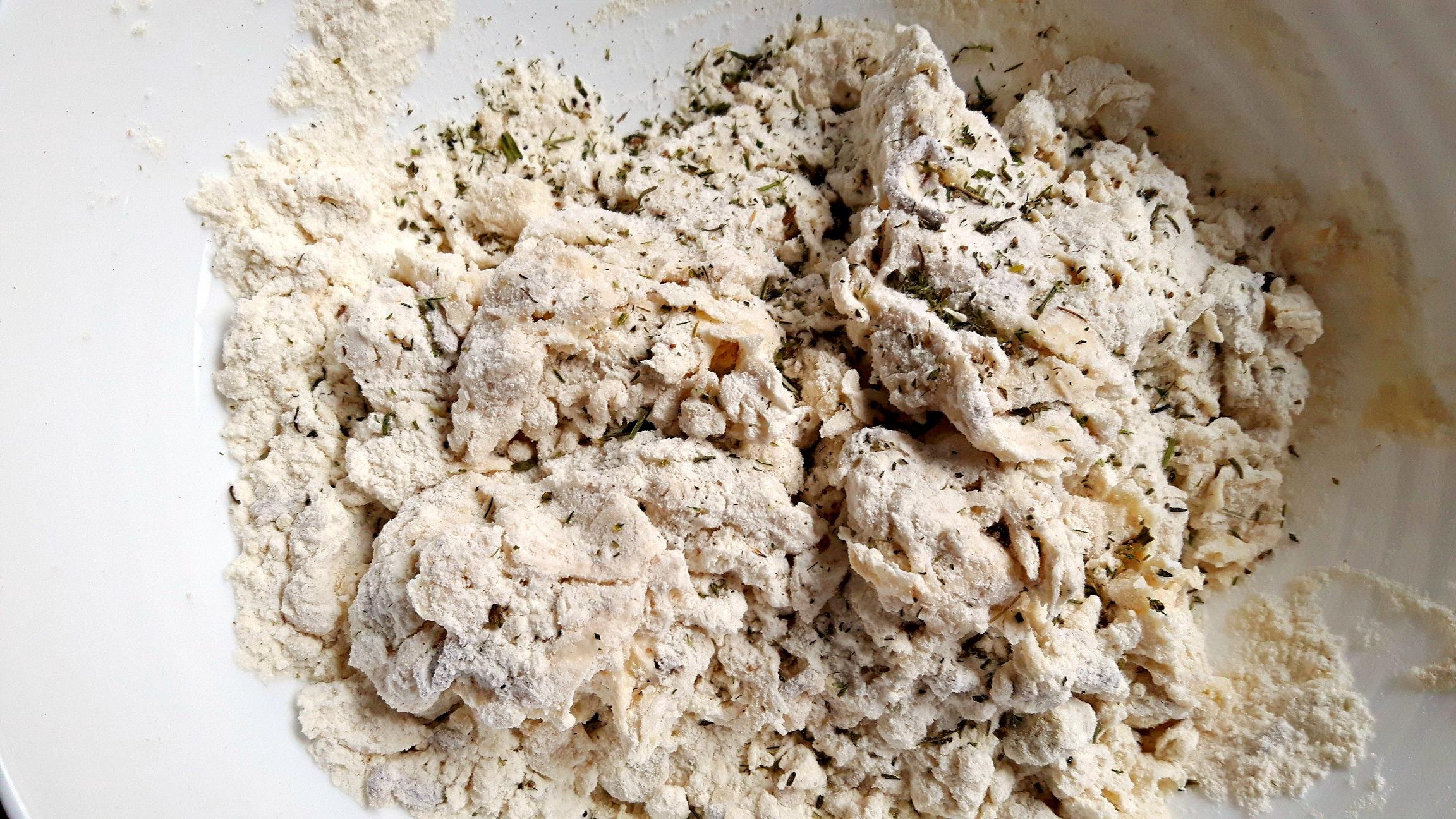 Focaccia cu ciuperci și cimbru