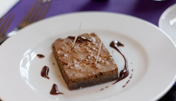 Vanilla creme with chocolate
