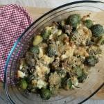 Varză de Bruxelles şi ciuperci gratinate (mmmmmmmmmm)