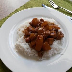 Teriyaki de pui cu mango - o minune după reguli ayurvedice