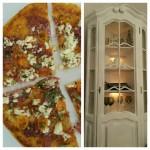 Prânz de weekend: Pizza rapidă cu telemea, salam uscat şi ceapă verde