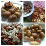Ciuperci cu brânză, în sos de roșii aromat cu salam spaniol