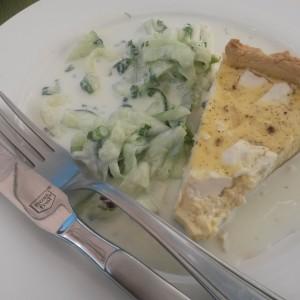 Quiche cu brânză şi harissa, gătită cu pasiune