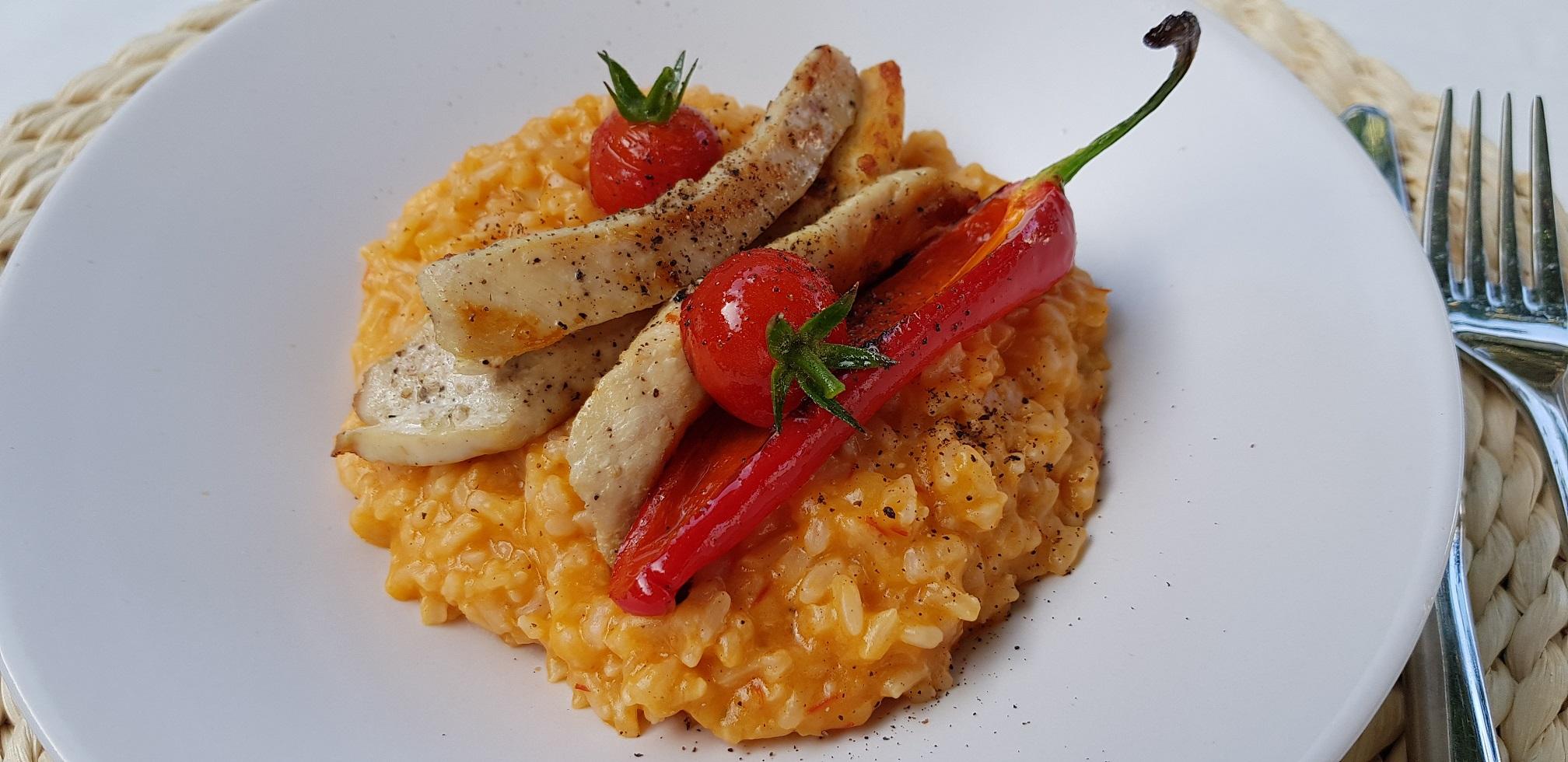 Bucură-te de vară (în orice anotimp) cu o porție de risotto cu roșii și prosecco